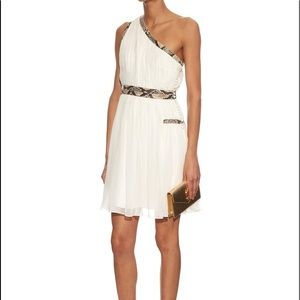 Diane Von Furstenberg Emlyn Snake Skin trim dress